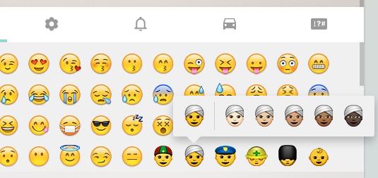 emojis multiculturales